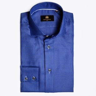 - Mayron Small Blue Dogtooth Shirt