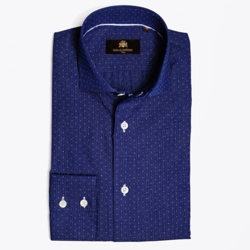 Circle Of Gentlemen - Menno Small Square Navy Shirt