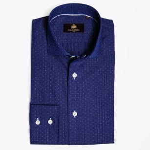 - Menno Small Square Navy Shirt