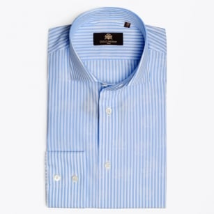 - Mounir Jacquard Stripe Sky Blue Shirt