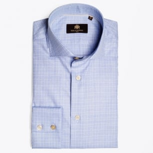 - Myka Sky Blue Check Shirt