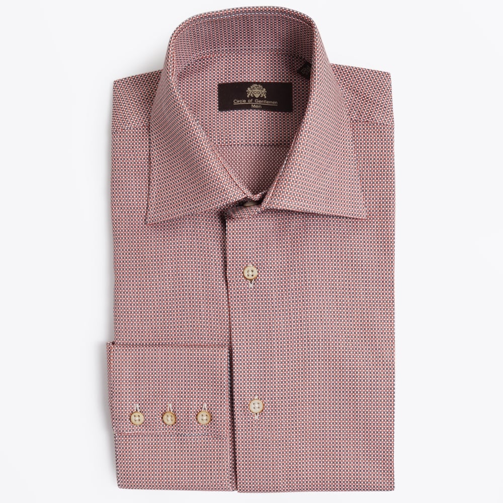 check small. Circle Of Gentlemen - Rule Small Check Shirt Red C