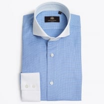 - Waldo Blue Shirt - White Collar & Cuff
