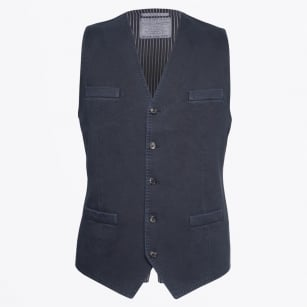- 4 Button Waist Coat - Navy