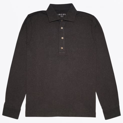 Circolo 1901 - Camicia Long Sleeve Jersey Polo - Dark Grey