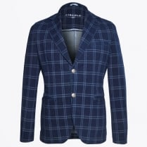 - Check Blazer - Navy