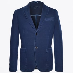 | Giacca Pique Single Breasted Jacket - Indigo