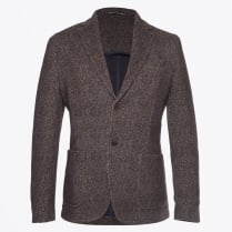 - Herringbone Blazer - Blue/Brown