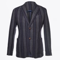 - Striped Mohair Blazer - Blu