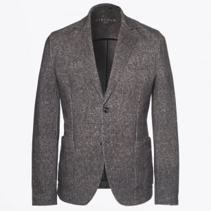 | Textured Weave Blazer - Brown