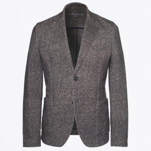   Textured Weave Blazer - Brown