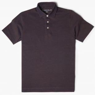 - Two Yarn Piquet Polo Shirt - Coco Brown