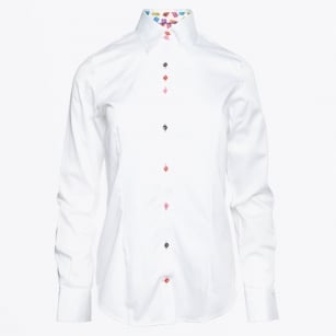 - Diana Shirt With Macaroon Trim - White