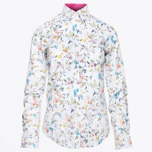 - Elizabeth Floral Shirt - White / Multicolour