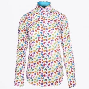 - Elizabeth Macaroon Printed Shirt - White/Multicolour