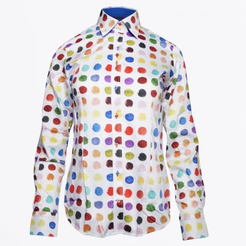 Claudio Luglio - Large Spot Print Shirt - Red