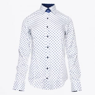 - Navy Polka Dot Shirt