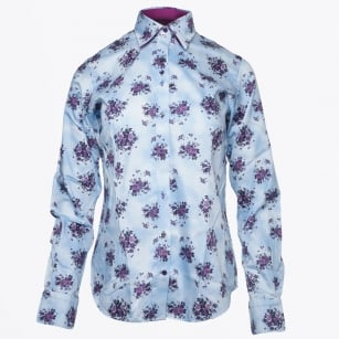 - Rose Grape Printed Shirt - Purple