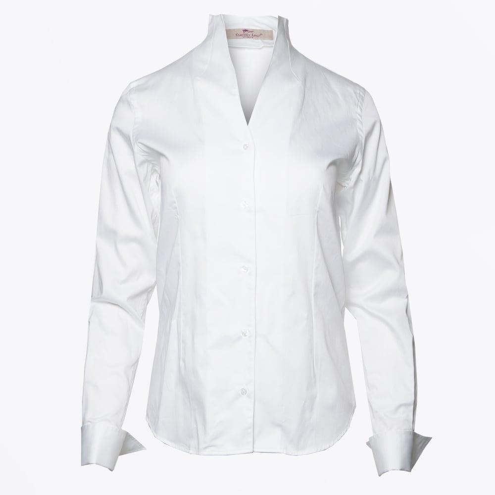 Victoria High Collar Shirt White Shirts For Women