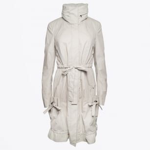 | Drawstring Parka with Concealed Hood - Sand