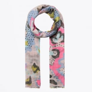 - Abstract Camo Structured Scarf - Pink