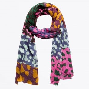 - Animal Print Scarf - Multi