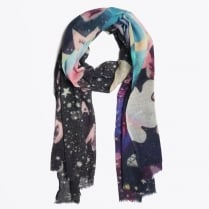 - Be A Unicorn Digital Scarf - Black