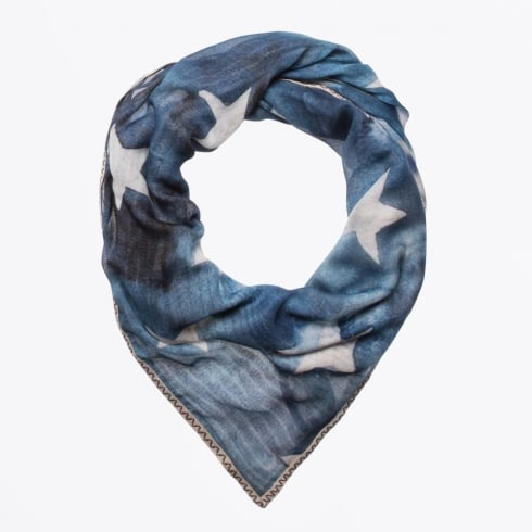 Codello - Blue Sky Framed Digital Print Scarf - Navy