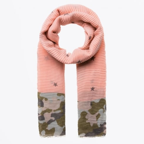 Codello - Camou Sars Plisse Scarf - Pink