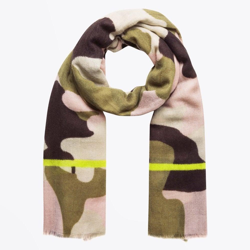 4f1ed5c1b7327b Codello - Camouflage Printed Scarf - Pink/Green - Mr & Mrs Stitch
