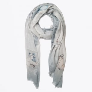 | Constellation Digital Print Scarf - Grey