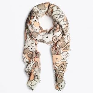 - Don't Worry Be Happy Dumbo Scarf - Light Grey
