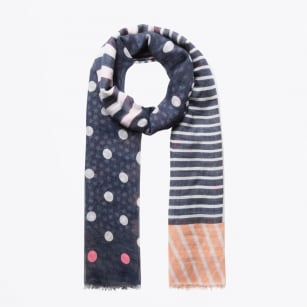 - Dots Stars & Stripes Scarf - Navy
