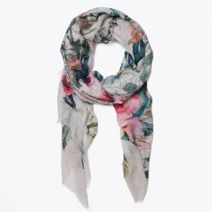 | Floral Digital Print Scarf - Multicolour