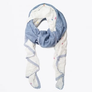 | Patched Triangle Scarf - Blue