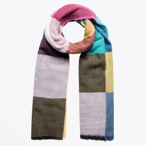 - Patchwork Printed Scarf - Multi