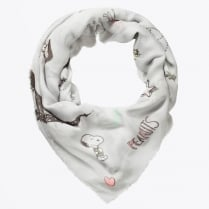 - Peanuts Scarf - Light Grey