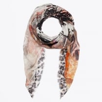 - Snoopy Digital Graffiti Scarf - Beige