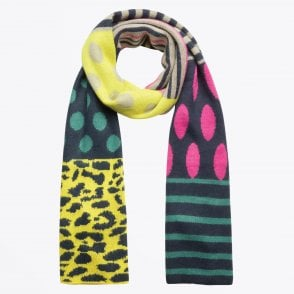 - Spot and Stripe Printed Scarf - Multi