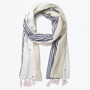 | Stars & Stripes Patch Scarf - Blue