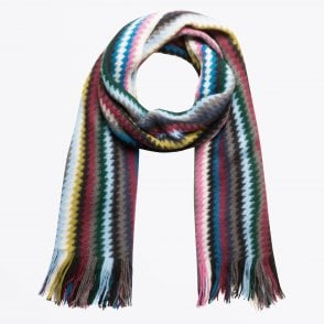 - Zig-Zag Knitted Scarf - Multi