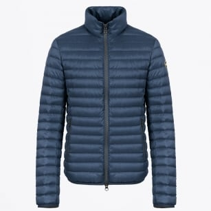 - Mens Down Jacket with High Neck - Navy Blue