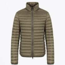 - Mens Down Jacket with High Neck - Olive