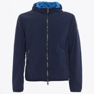 - Reversible Hooded Jacket - Navy/Light Blue