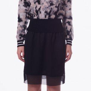 | Black Panel Detail Skirt