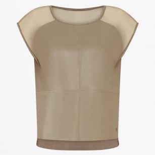 | Leather Front Top - Mud