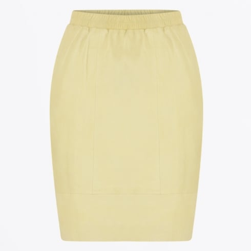 Coster Copenhagen - Leather Skirt - Lemon