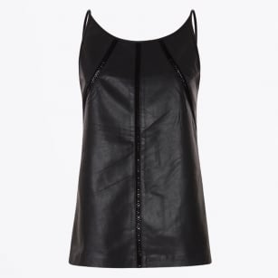 | Leather Top - Black