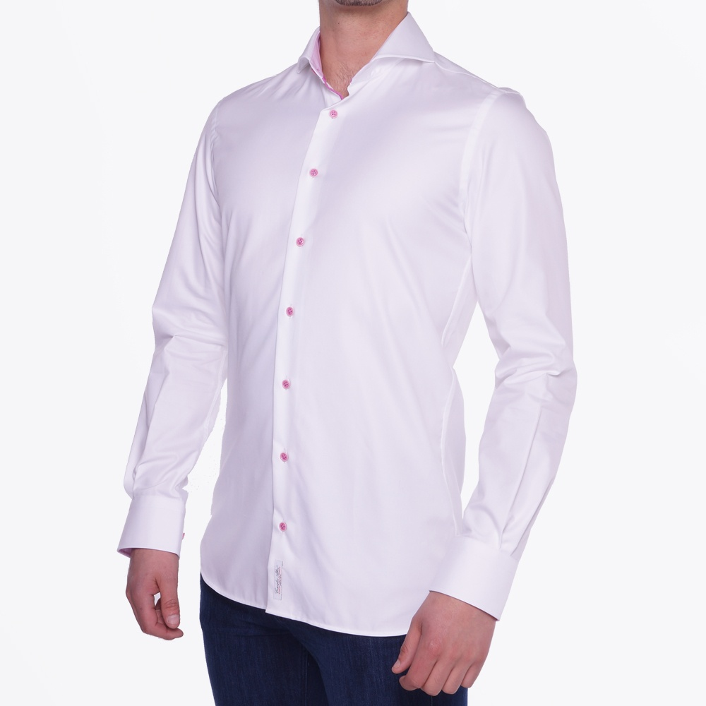 To see all our shirts with Cut Away Collar follow this link. The Tab Collar made a grand comeback into men's fashion. This iconic collar design has a two tabs attached in the middle of the collar points, pushing the knot up and out for an elegant tie draping. Its narrow spread gives the wearer a .
