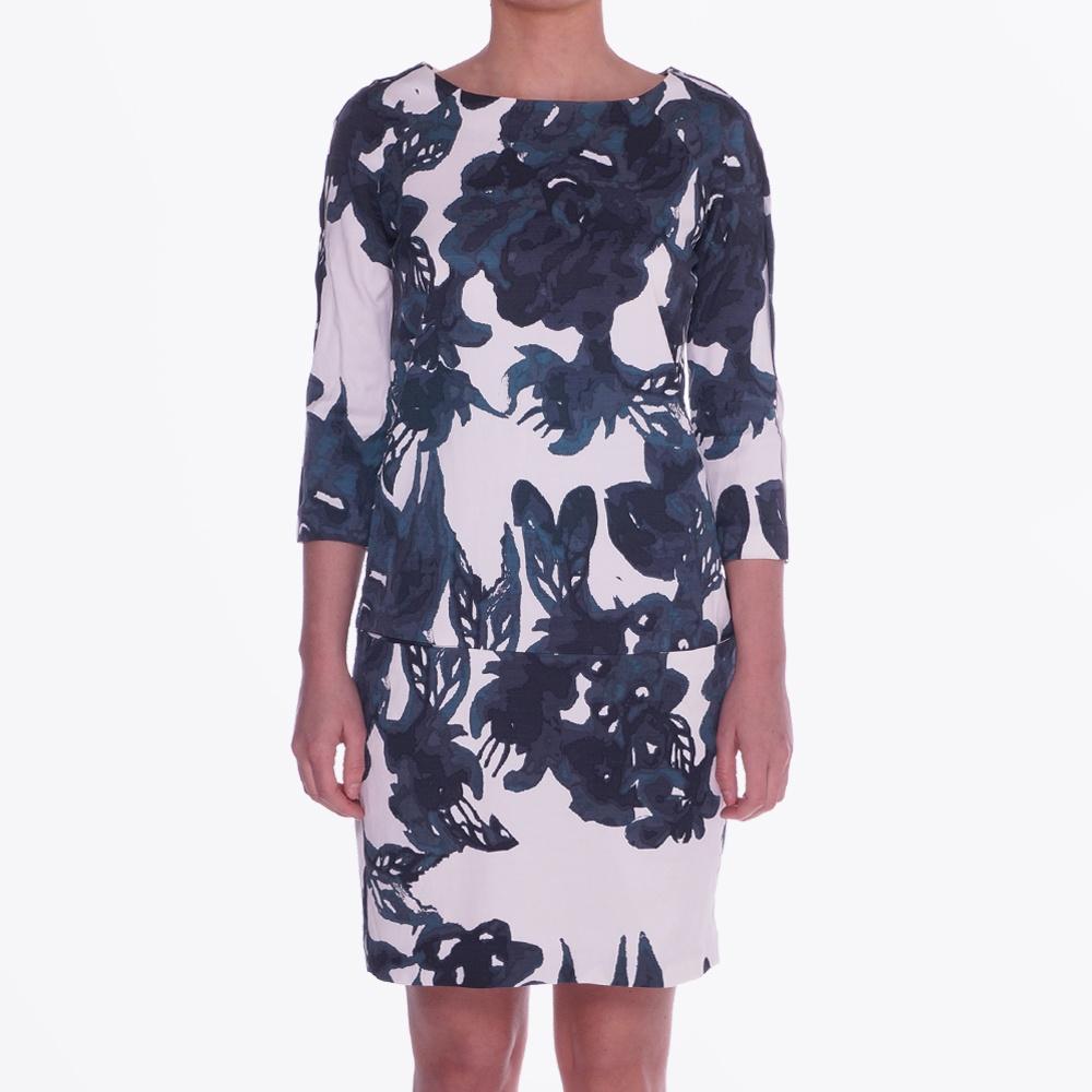 Blacken Big Flower Print Dress  0fddb53c7
